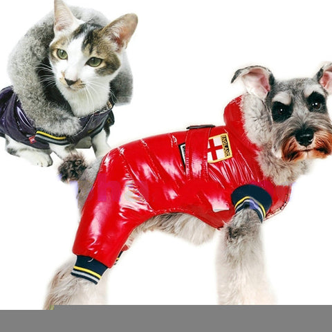 Adorable Dog Clothing Cute Pet Apparel Waterproof Weather Jacket: Adorable Dog Clothing Cute Pet Apparel Waterproof Weather Jacket-Color Red