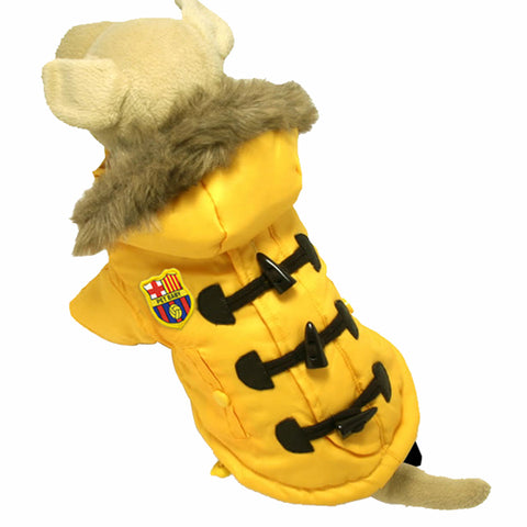 All New YELLOW European Styled Female Dog's Leisure Coat Apparel - Size 4