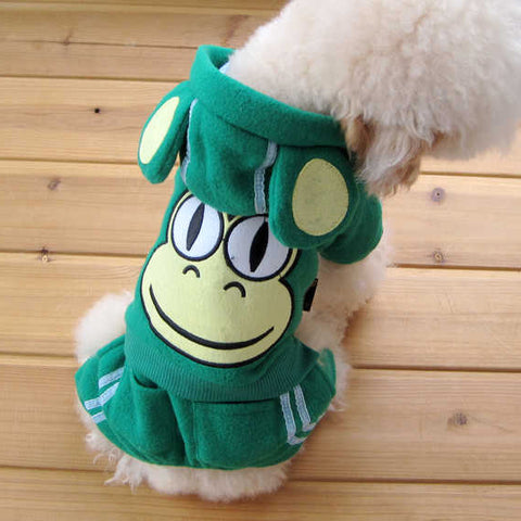 Adorable Dog Clothing Accessory Featuring GREEN Frog & Polyester Material: Adorable Dog Clothing Accessory Featuring GREEN Frog & Polyester Material-Size 1