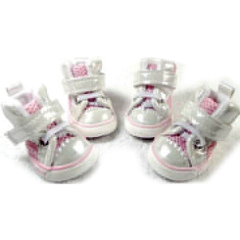 Adorable Dog Sneakers Footwear for Pet's Shoes Pink Color way: Adorable Dog Sneakers Footwear for Pet's Shoes Pink Color way-Size 1