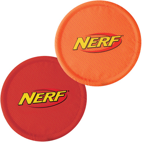 "Nerf Nylon Flyer 10"""" 2/Pkg-Red & Orange"