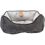 "Nandog Reversible Pet Bed 21""""X25""""X10""""-Dark Gray/Light Gray"