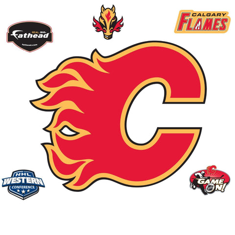 NHL Calgary Flames Fathead Hockey Logo Wall Accent Sticker