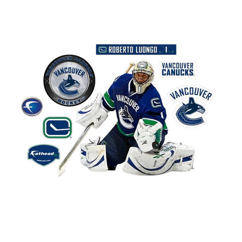 Roberto Luongo Fathead Jr NHL Canucks Hockey Wall Sticker