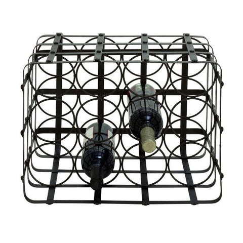 14914 Chic Metal Wine Holder