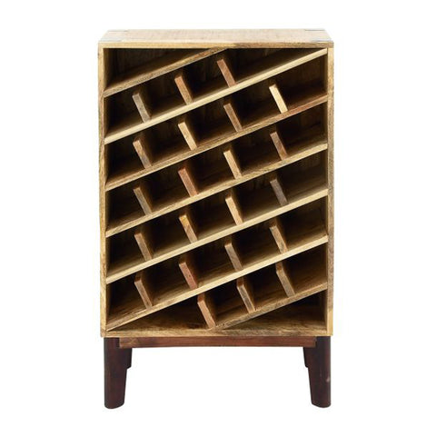 Functional Wood Wine Rack