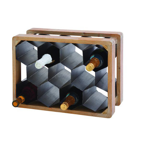 Unique Metal Wood Wine Holder
