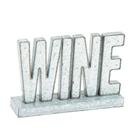 Enchanting Metal Led Wine Sign
