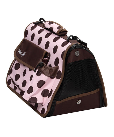 Airline Approved Folding Zippered Casual Pet Carrier- Plaid: Medium
