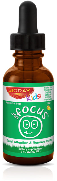 Bioray Kids Ndf - Focus - Drops - Citrus - 2 Oz