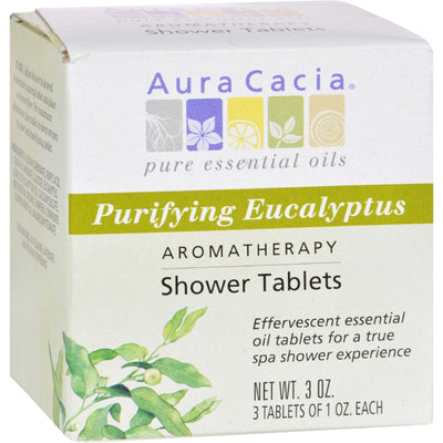 Aura Cacia Purifying Aromatherapy Shower Tablets Eucalyptus - 3 Tablets