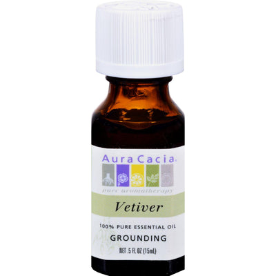 Aura Cacia Pure Essential Oil Vetiver - 0.5 Fl Oz
