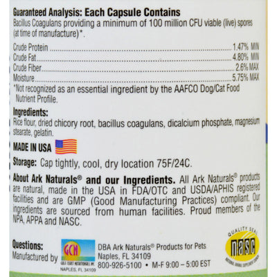 Ark Naturals Gentle Digest For Dogs And Cats - 60 Capsules