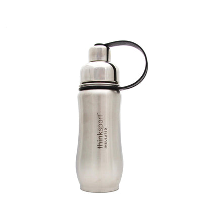 Thinksport Stainless Steel Sports Bottle - Silver - 12 Oz