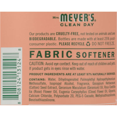 Mrs. Meyer's Fabric Softener - Geranium - 32 Oz