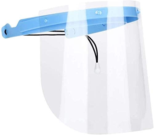 1 Adjustable Dental Full Face Shield with 10 Replaceable Plastic Protective Film