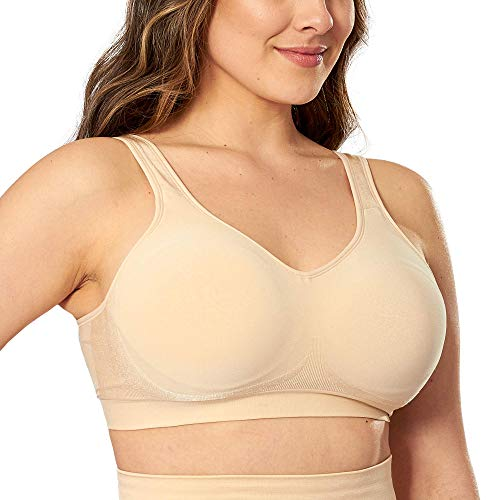 Go Lively Go Wireless Compression Wirefree Bra for Women - Small to Plus Size