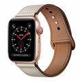 iWatch Band 40mm 38mm, Genuine Leather Replacement Band Strap + Rose Gold Adapter