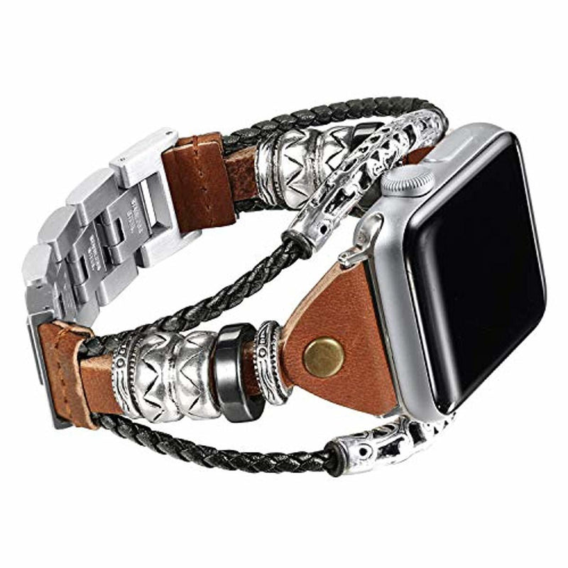Our Apple watch series 4 band is a Superior leather apple watch band with ornamental steel design, its the best apple watch bands ever