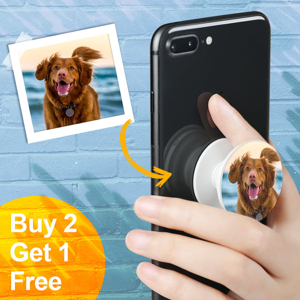 Custom Collapsible Pet Photo Phone Grip Holder