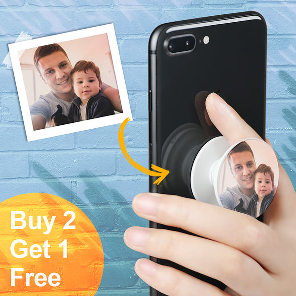 Custom Photo Phone Grip Holder - Best Father's Day Gift