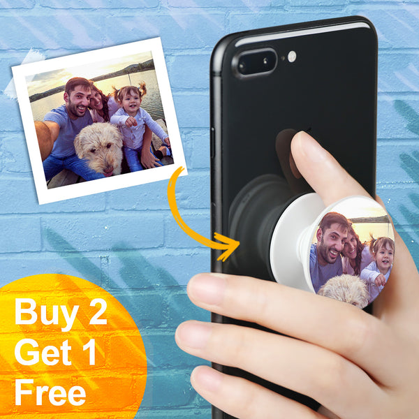 Custom Collapsible Family Photo Phone Grip Holder