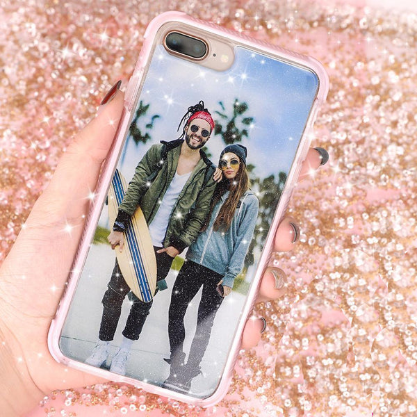 Custom Sparkling Bumper Safe iPhone Case Make Your Love Case
