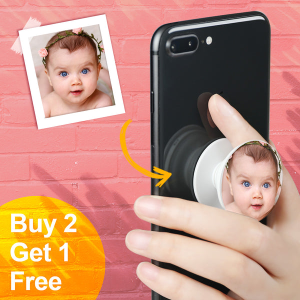 Custom Collapsible Baby and Kids Photo Phone Grip Holder