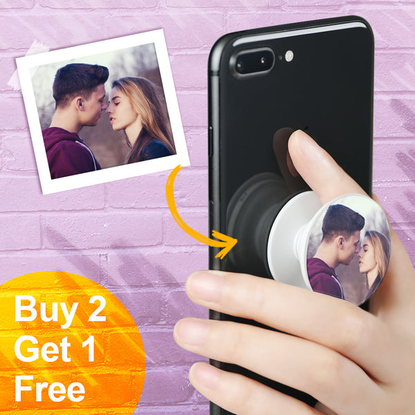 Custom Collapsible Love Photo Phone Grip Holder