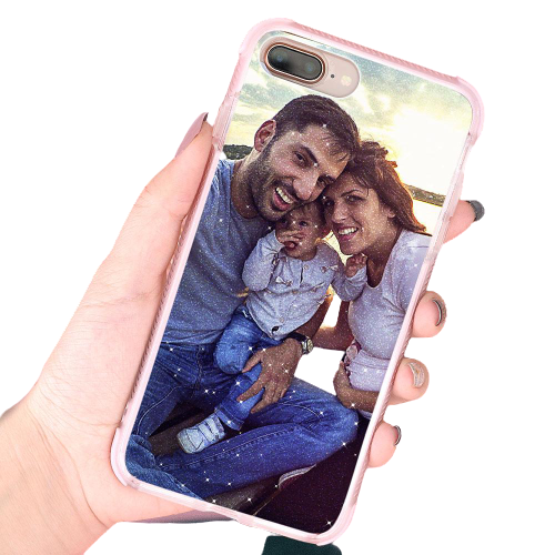Custom iPhone Case Sparkling Bumper Safe - Make Your Family