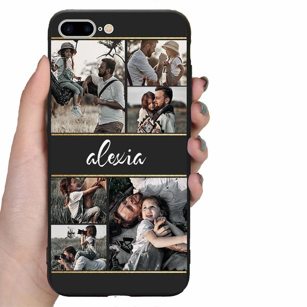 Custom 6-Photo Collage iPhone Case - with Name