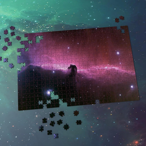 Space Shuttle Jigsaw Puzzle Best Gifts For Family And Friends - Pink Purple Nebula