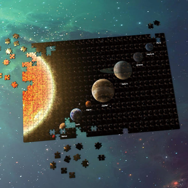 Space Jigsaw Puzzle Great Gifts For Adults And Kids - The Sun And Eight Planets