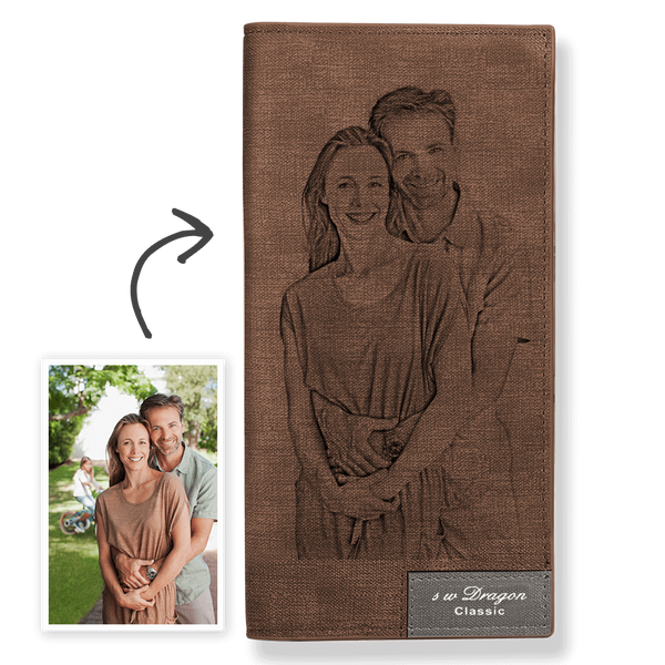 Women's Custom Photo Wallet Brown