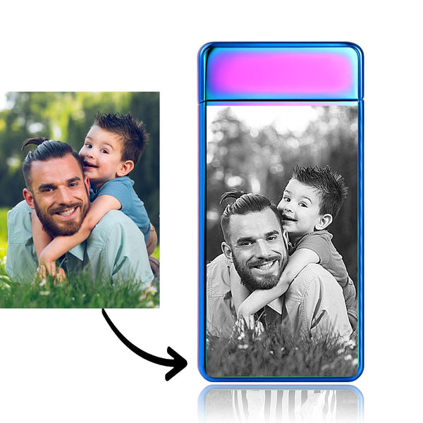 Custom Engraved Photo Lighter Electronic Cigarette Lighter