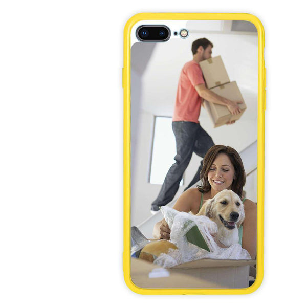 Personalized iPhone Case Candy Color Acrylic - Lovers and dog