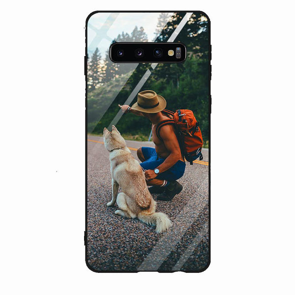 Custom Samsung Phone Cases Galaxy S10-9H Tempered Glass Back
