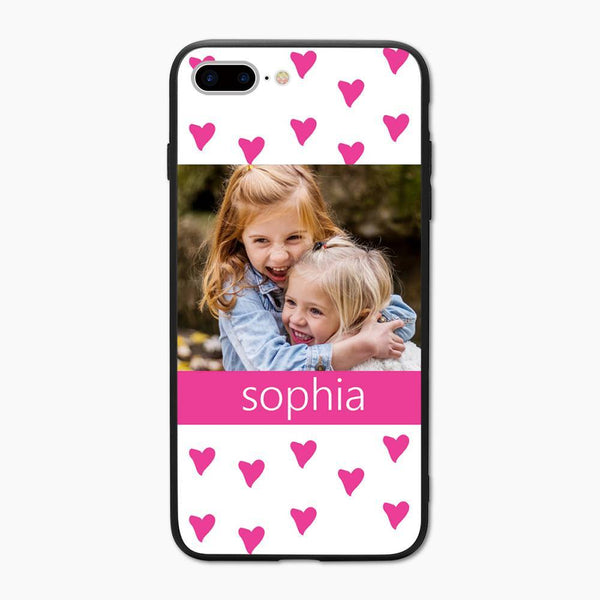 Custom Hearts Photo iPhone Case