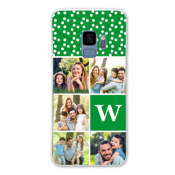 Custom 5-Photo Samsung Galaxy Collage Case - with Single Letter