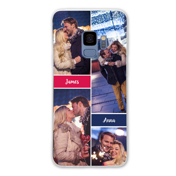 Custom 4-Photo Samsung Collage Case - with Two Names