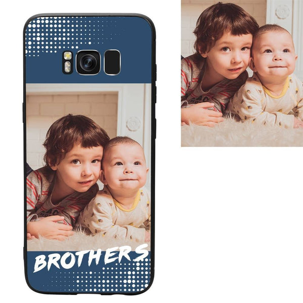 "Galaxy S8 Custom ""Brothers"" Family Photo Protective Phone Case"
