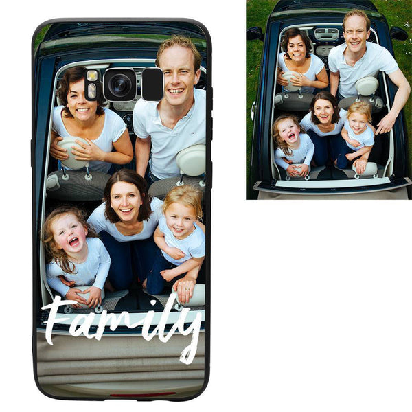"Galaxy S8 Custom ""We Are Family"" Photo Protective Phone Case"