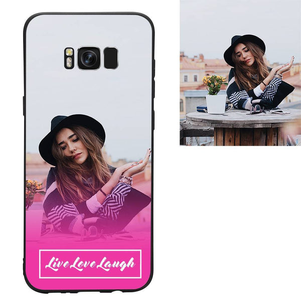 "Galaxy S8 Plus Custom ""Live Love Laugh"" Photo Protective Phone Case"