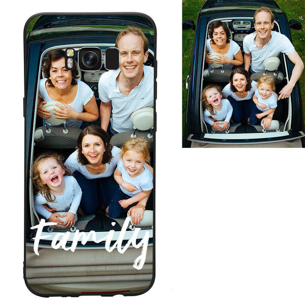 "Galaxy S8 Plus Custom ""We Are Family"" Photo Protective Phone Case"