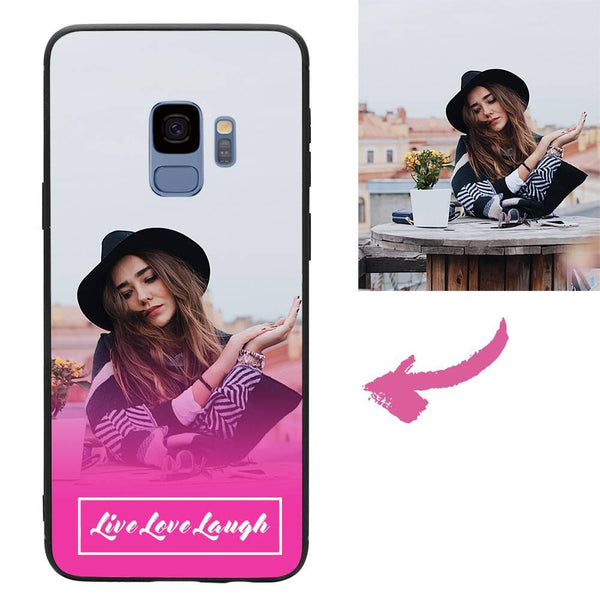 "Custom ""Live Love Laugh"" Samsung Galaxy Case"
