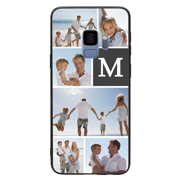 Custom 6-Photo Collage Samsung Case - Single Letter