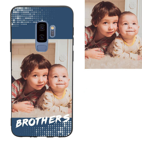 "Galaxy S9 Plus Custom ""Brothers"" Family Photo Protective Phone Case"