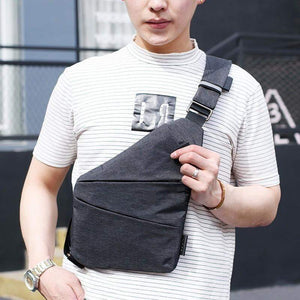 Men's Thin Inclined Shoulder Bag