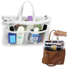 Load image into Gallery viewer, Evelots Clear Cosmetic Purse-Double Zipper Hand Pouch Bag In Bag Organizer