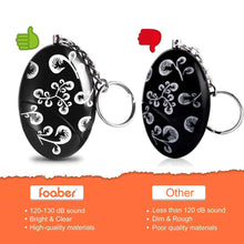 Load image into Gallery viewer, Shop here foaber personal alarm keychain personal alarms for women purse self defense keychain safe sound 120 130 db alarm device for women elderly kids night workers